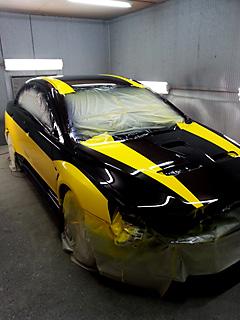 競技車ランサーevolution10の外部塗装 施工後